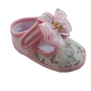 b2cda3f79 Sapato Para Bebê com Laço Rosa Tamanho 13/18 – Keto Baby – Bebê Urbano